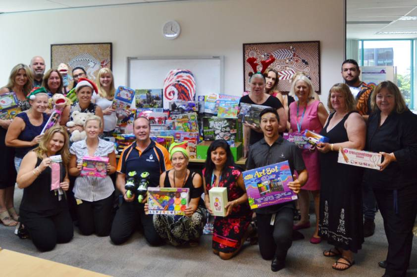 Christmas donation to the Department of Communities Child Safety and Disability Services