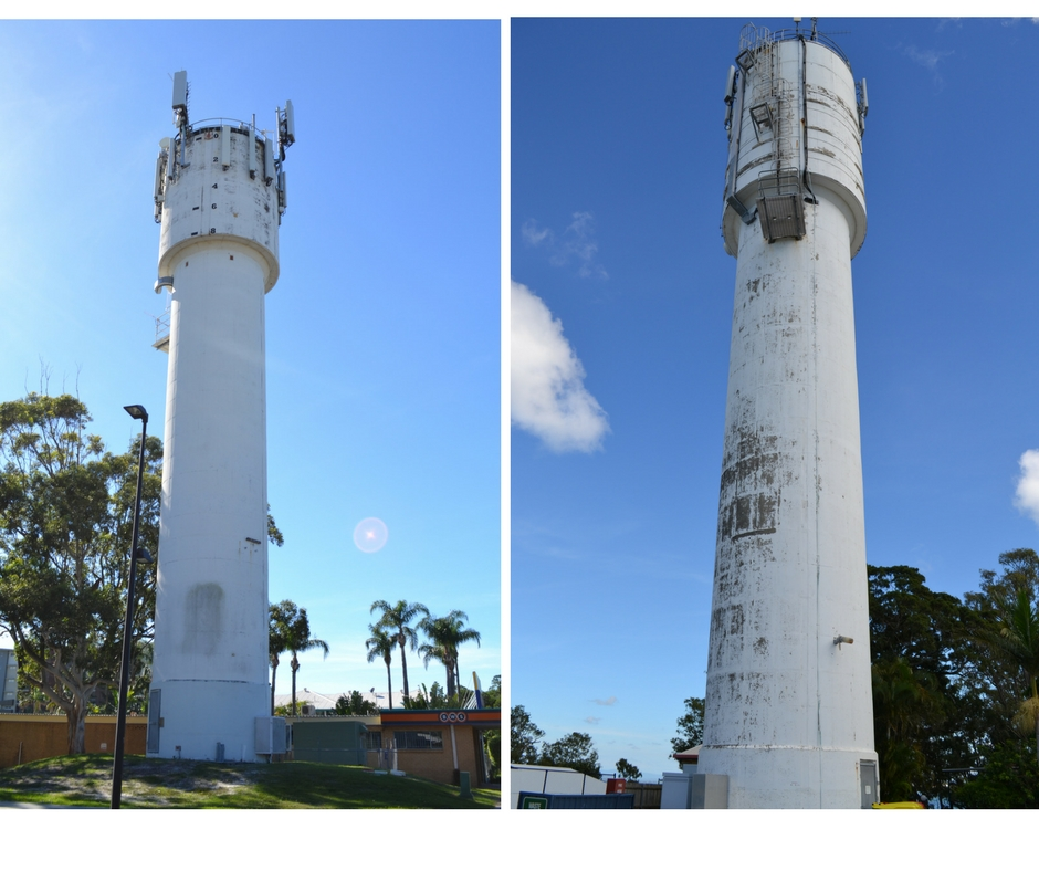 Woorim and Bongaree water towers on Bribie Island