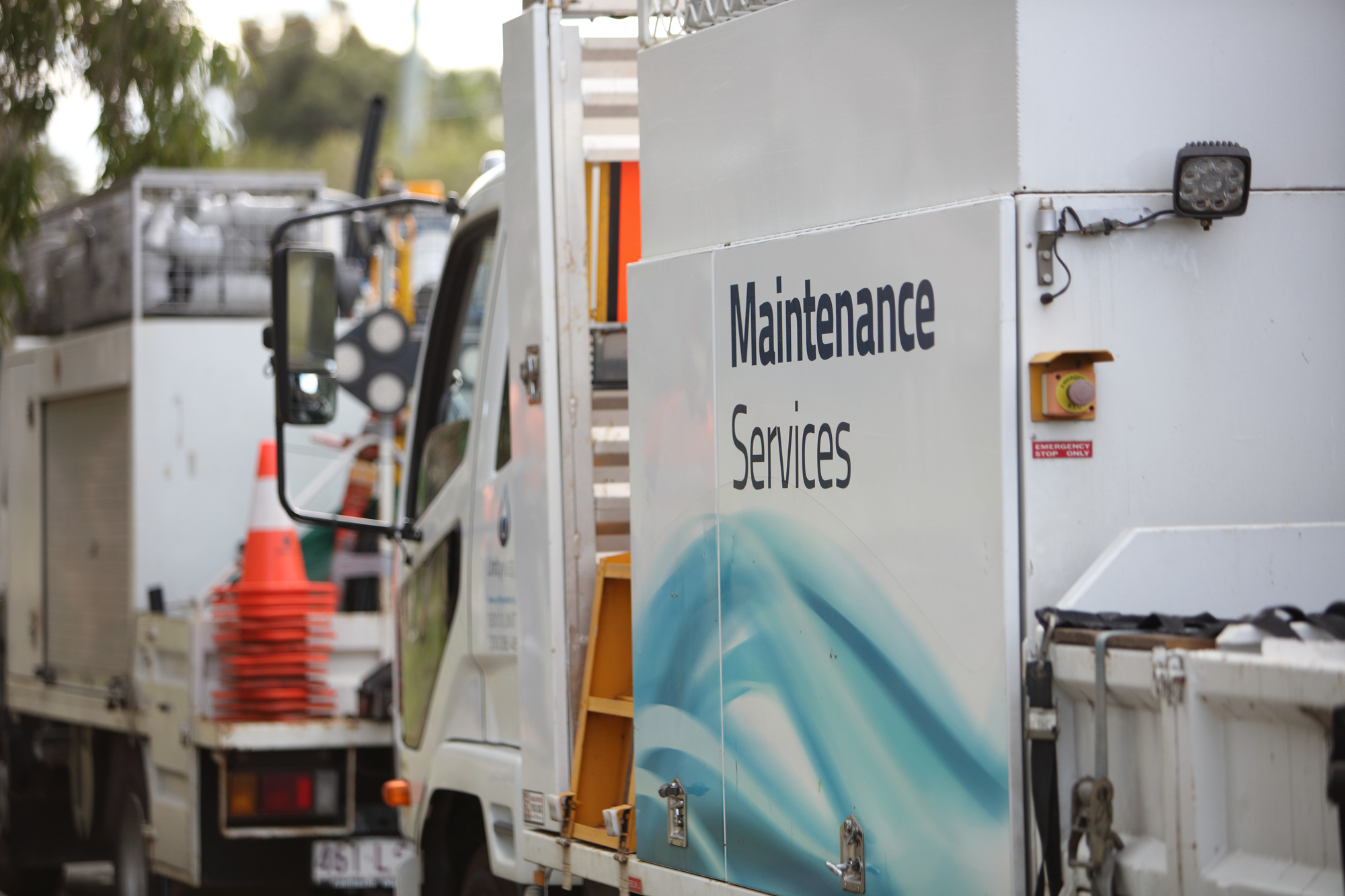 Unitywater maintenance services truck