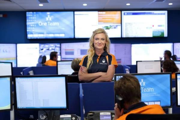 Martine Watson in the Unitywater Control Room