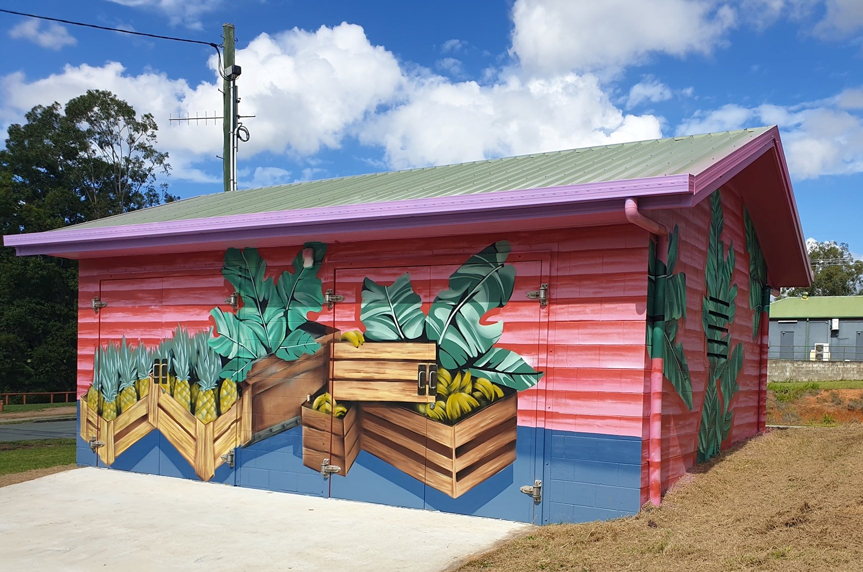 Wamuran water pump station artwork - back and side
