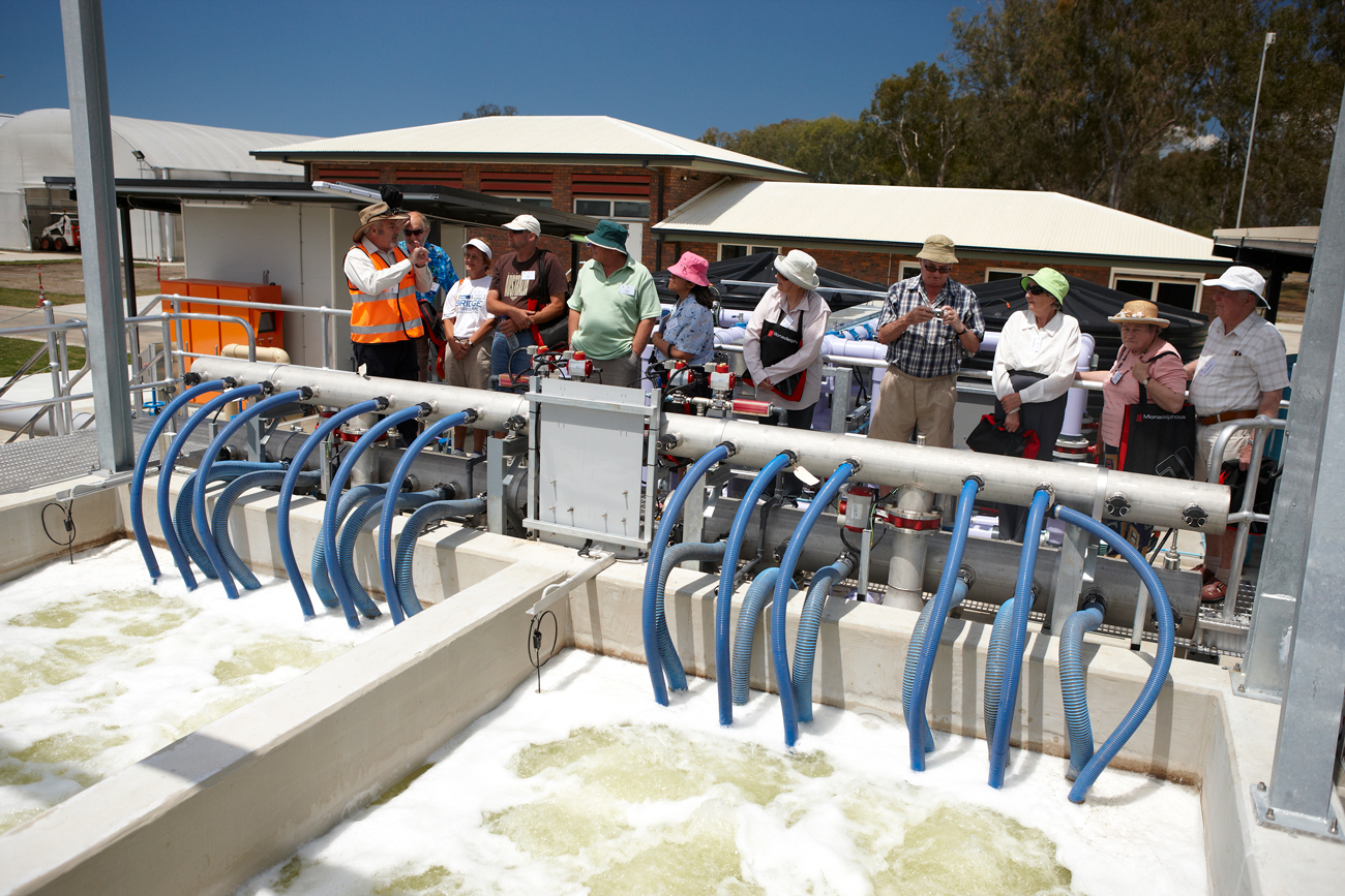 Unitywater Sewage Treatment Plant Burpengary tour