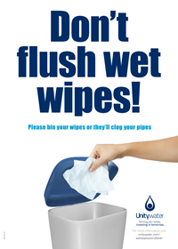 Wet wipes are rubbish poster