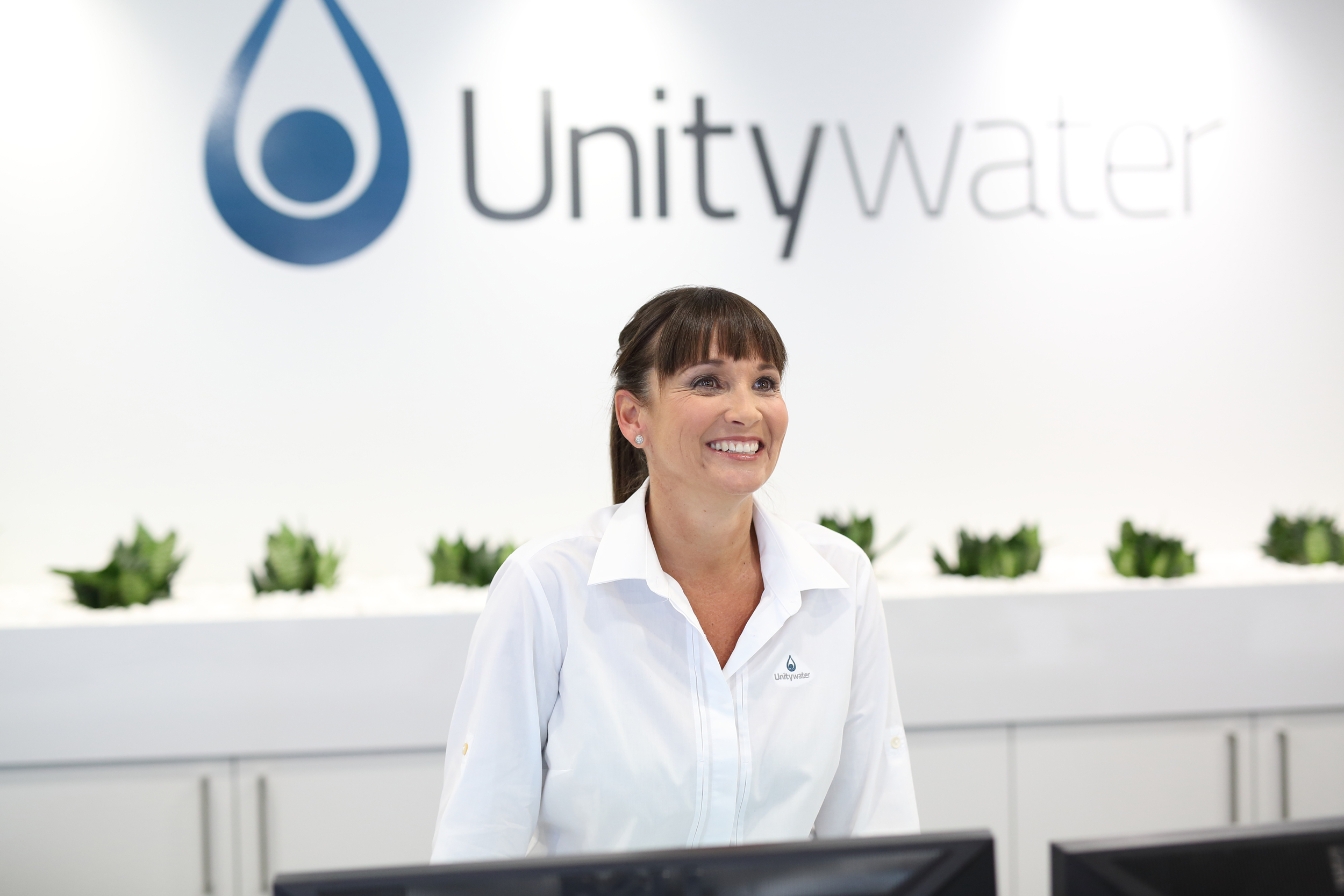 Unitywater reception staff