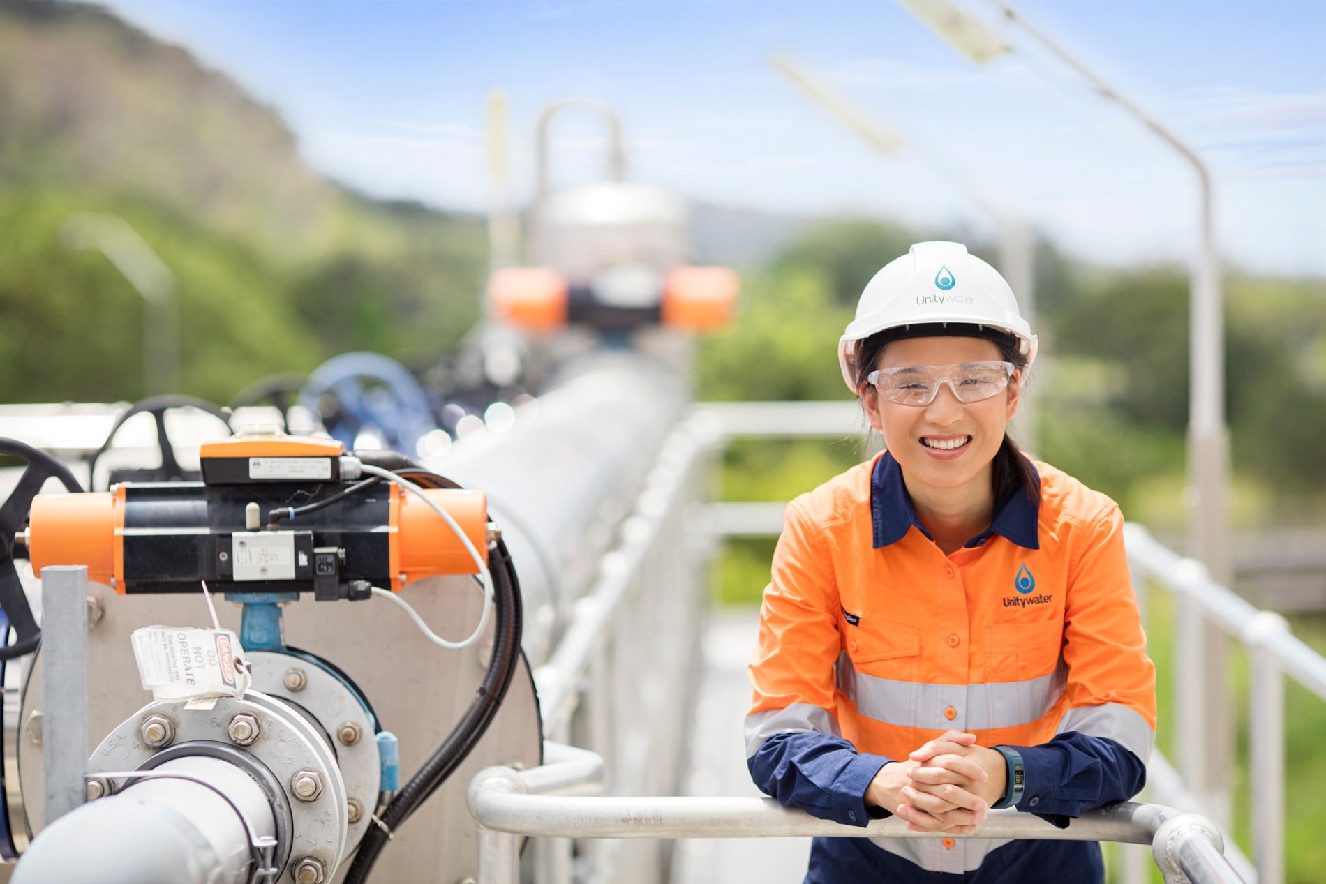 Unitywater female staff at Nambour Sewage Treatment Plant