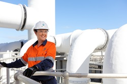 Female staff member at Murrumba Downs Sewage Treatment Plant