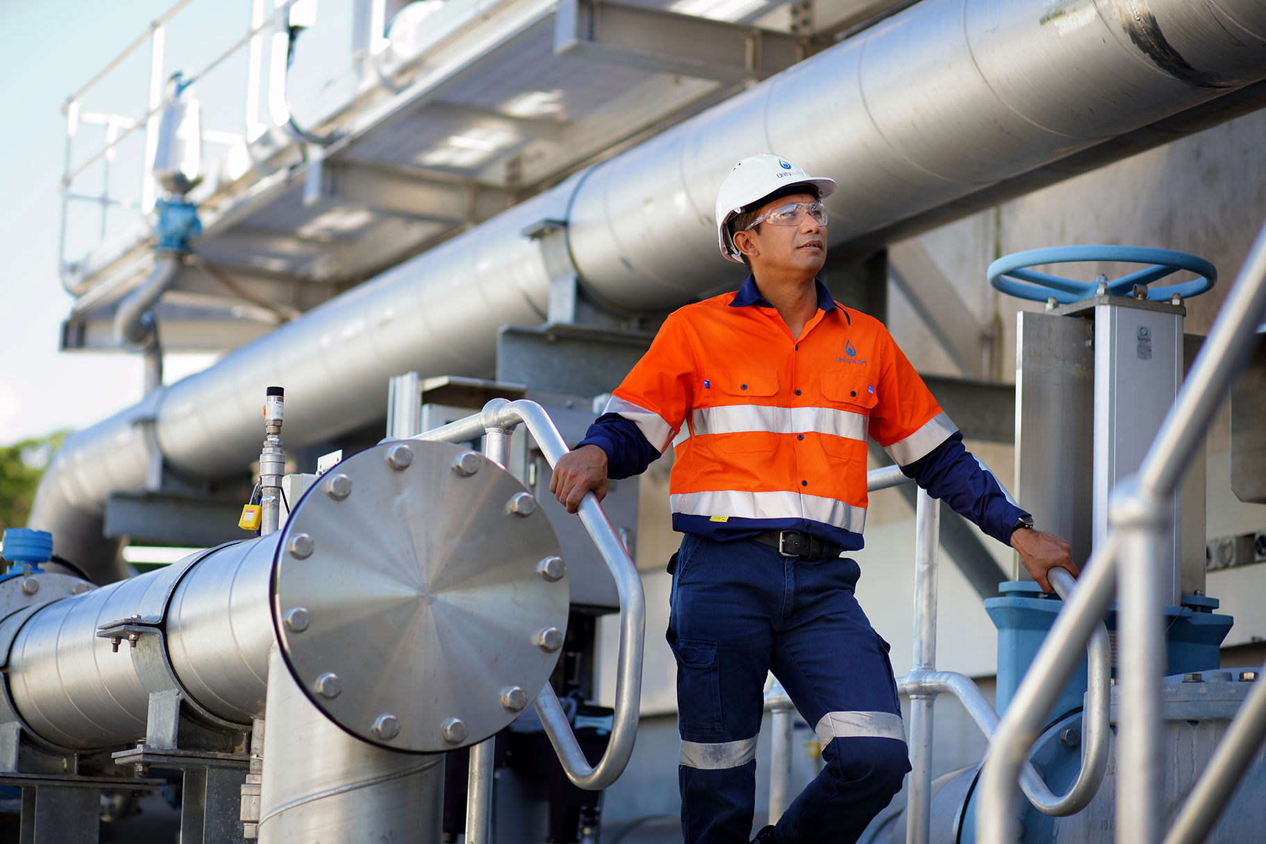 Male staff member at Nambour Sewage Treatment Plant