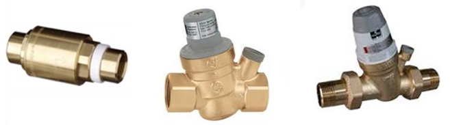 Pressure limiting device on water meter